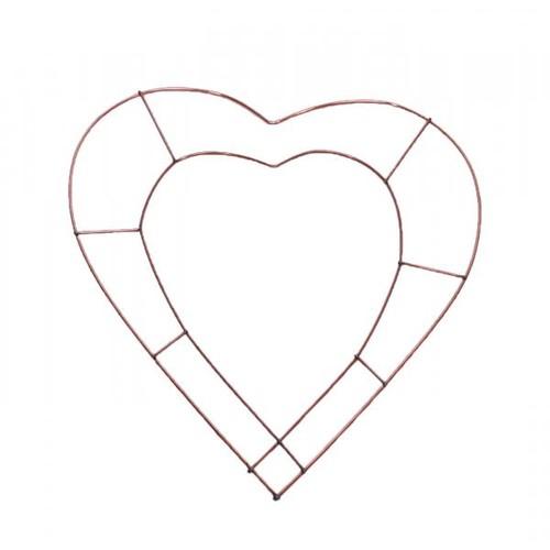 12 Inch Flat Heart Wreath Frames x 20 (AP-WR95778)