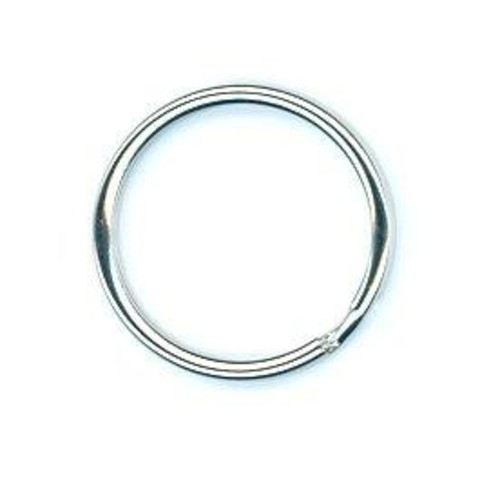 100 x Split Rings 28mm Nickel (B88528)