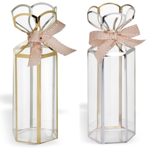 Lantern Box Small Gold/Silver 12 Pack