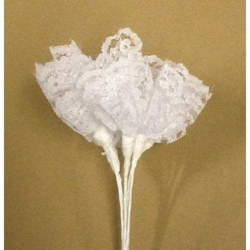 Lace Bunch - 3 Bunches with 6 Lace Flowers (BB1984) (Ivory)