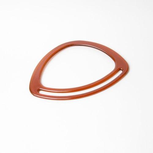 2 x Bag Handle Triangle Amber 20cm x 14cm (BH1A)