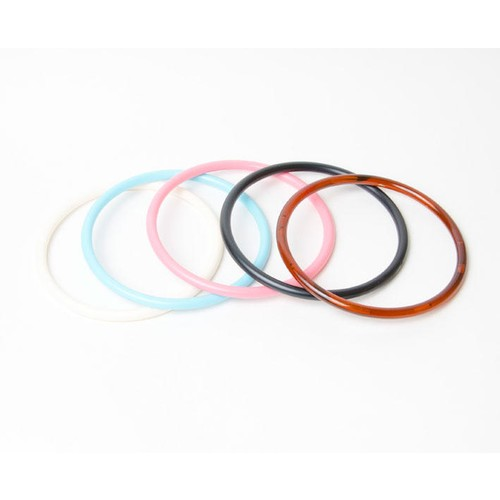 2 x Bag Handle Round Coloured 13cm (BH3C) (Amber)