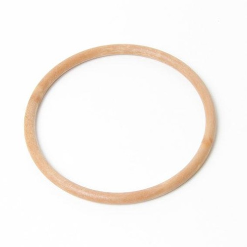 2 x Bag Handle Round Wood Coloured 13cm (BH3W)
