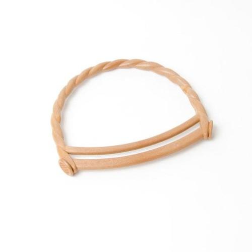 2 x Bag Handle Curly Plastic 16cm x 14cm (BH8)