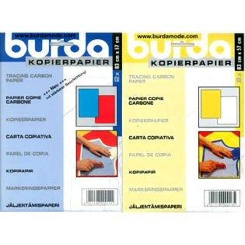 Burda Tracing Paper Carbon 2 Sheet Pack (BTPC) (White & Yellow)