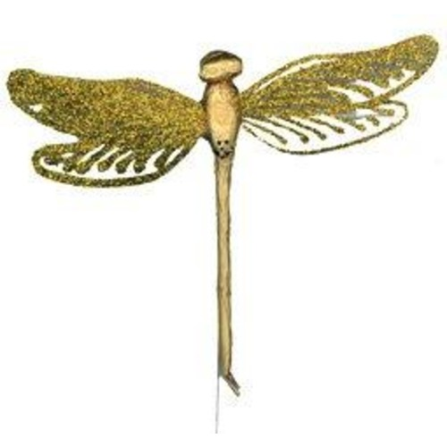 12 x Glitter Dragonflies 12cm x 10cm Box (C4895)(Deep Pink)