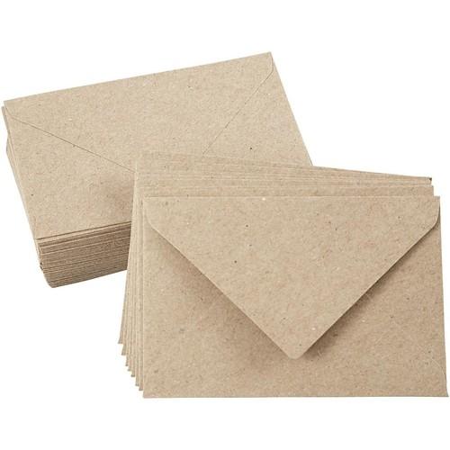 Recycled Envelopes - C7 - 7.8cm x 11.5cm - Natural - 50pcs (CC20531)