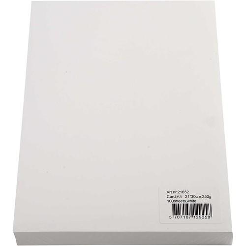 A4 210x297mm - 250g - white, 100sheets (CC21652)