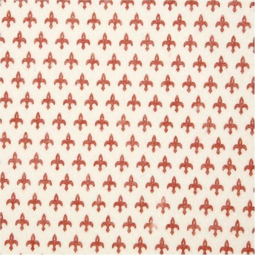 Design Felt 45cm x 1m Christmas Fleur de Lis (CC22176)