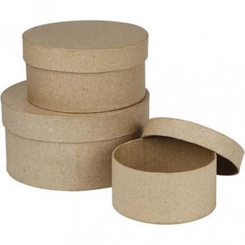 Round Boxes D:10+13+16cm x 3 asstd (CC263700)