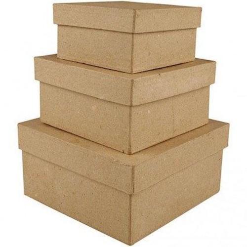 Square Boxes L:10+12,5+15cm, 3 asstd (CC263720)