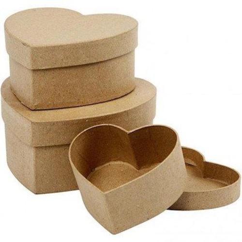 Heart Boxes D:10+12,5+15cm, 3 asstd (CC263760)