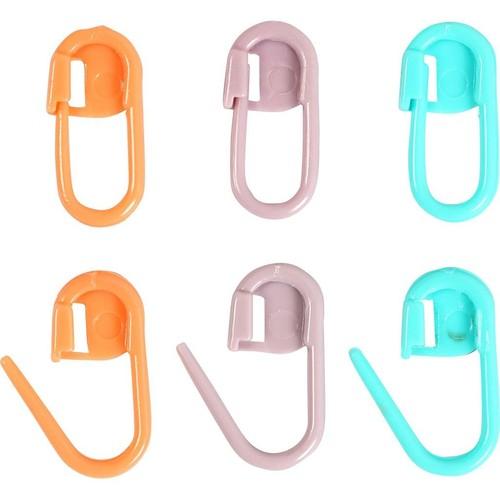 (CC42207) Stitch Marker, L:22mm, Green, Purple, Orange, 30pcs.