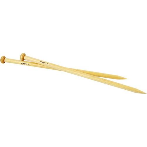 Bamboo Knitting Needles - 12.0mm - Box