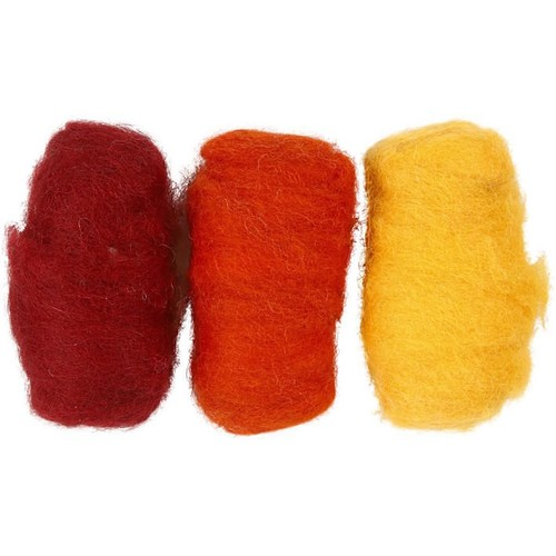 Carded Wool Orange Harmony 3 x 10g (CC45333)