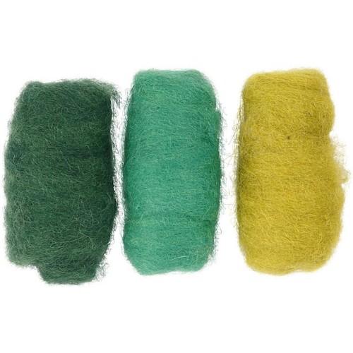 Carded Wool Green Harmony 3 x 10g (CC45336)