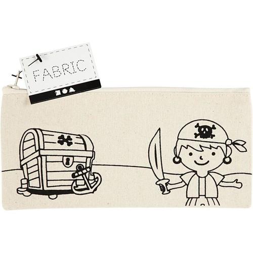 Pencil Case, size 21x9cm, 245g/m2, light natural, Pirate, 1pc (CC499661)