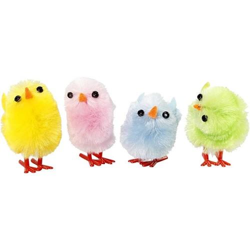 Easter Chicks, H: 30 mm, 12 asstd, pastel colours (CC51655)