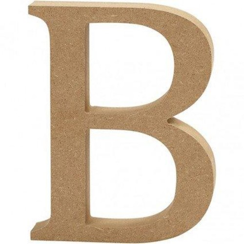 'B' Wooden Letters 1 pc (CC56311)