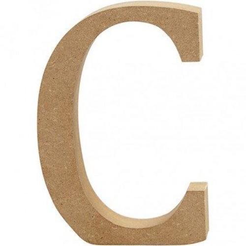 'C' Wooden Letters 1 pc (CC56312)