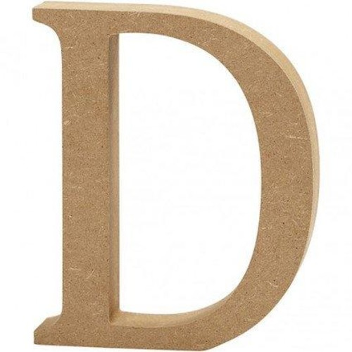 'D' Wooden Letters 1 pc (CC56313)