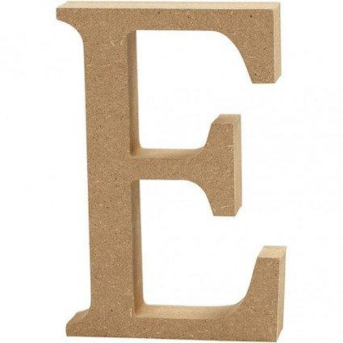 'E' Wooden Letters 1 pc (CC56314)