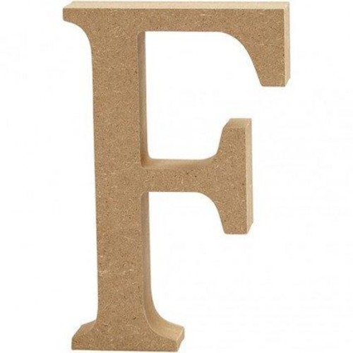 'F' Wooden Letters 1 pc (CC56315)