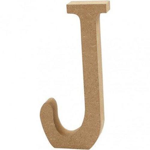 'J' Wooden Letters 1 pc (CC56319)