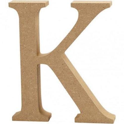 'K' Wooden Letters 1 pc (CC56320)