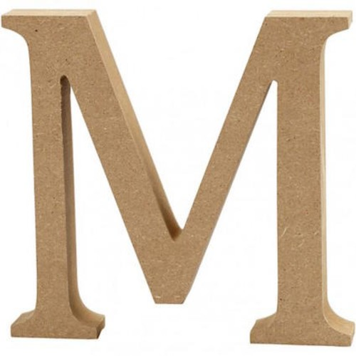 'M' Wooden Letters 1 pc (CC56322)