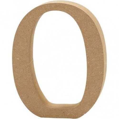 'O' Wooden Letters 1 pc (CC56324)