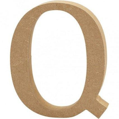 'Q' Wooden Letters 1 pc (CC56326)