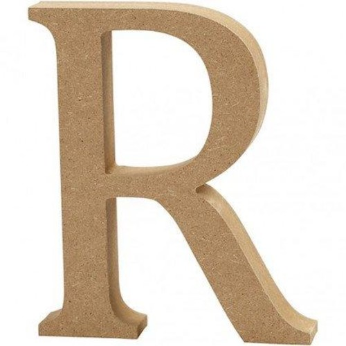 'R' Wooden Letters 1 pc (CC56327)