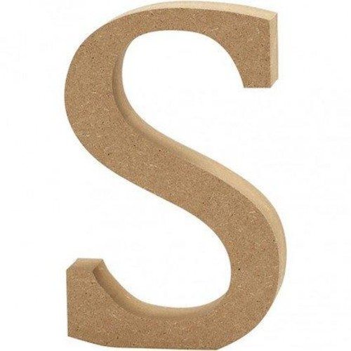 'S' Wooden Letters 1 pc (CC56328)
