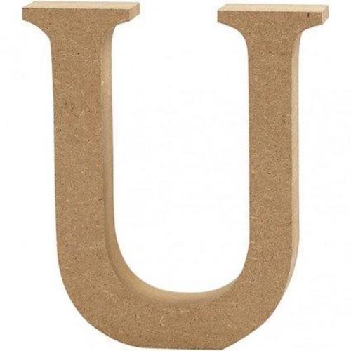 'U' Wooden Letters 1 pc (CC56330)