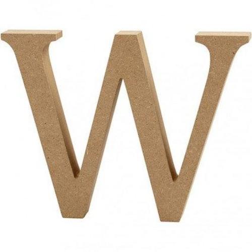 'W' Wooden Letters 1 pc (CC56332)