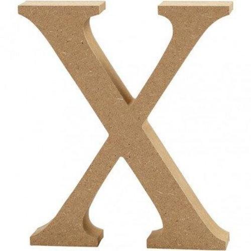 'X' Wooden Letters 1 pc (CC56333)
