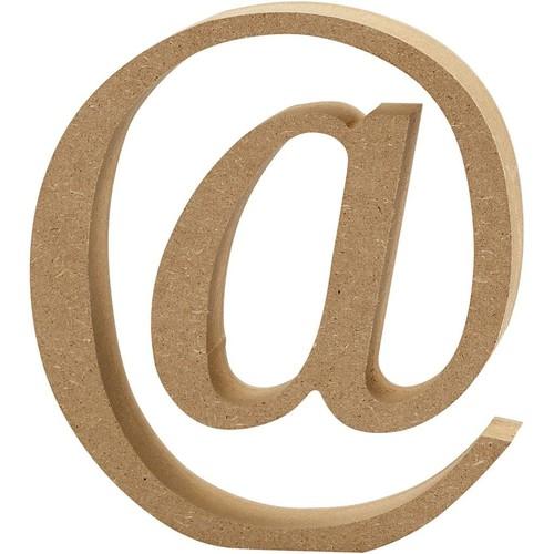 '@' Wooden Symbols 1 pc (CC56337)