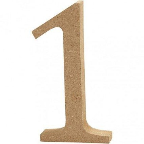 '1' Wooden Numbers 1 pc (CC56339)