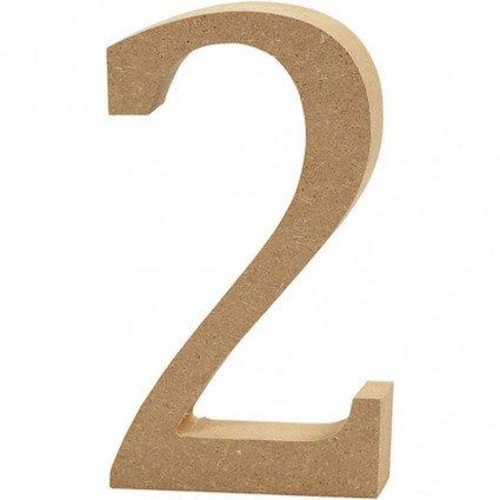 '2' Wooden Numbers 1 pc (CC56340)
