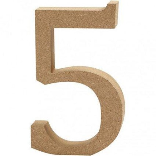 '5' Wooden Numbers 1 pc (CC56343)