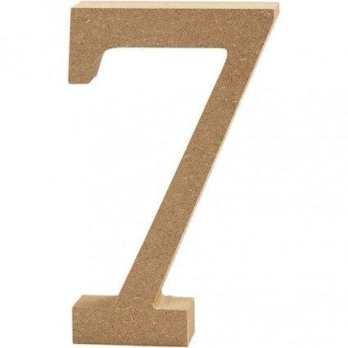 '7' Wooden Numbers 1 pc (CC56345)