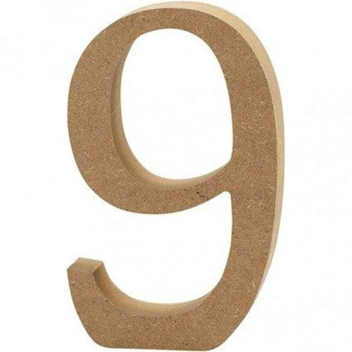 '9' Wooden Numbers 1 pc (CC56347)