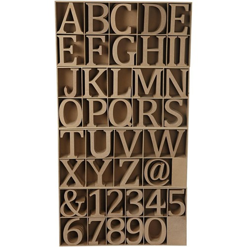 Wooden Letters, Numbers and Signs With Stand (CC56348)