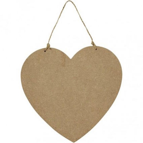 Hanging Heart Sign Size18,5x19,5cm MDF 1pc (CC56415)