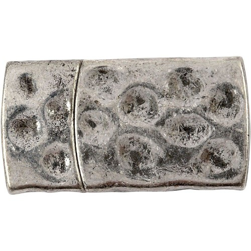 Magnetic Clasp, Size 7x29mm, Hole Size 3x10mm, Antique Silver, 1pc (CC600010)