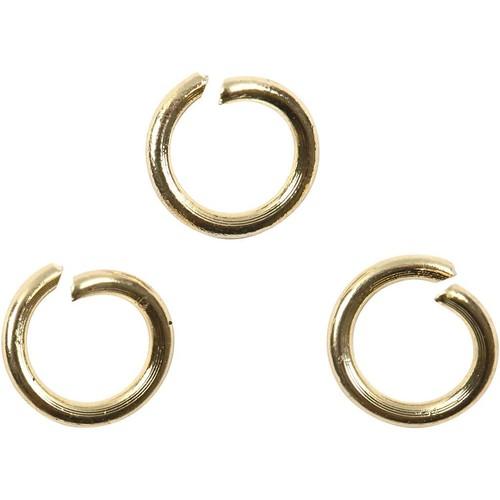 Creativ - Jump Ring, D: 5 mm, gold-plated, GP, 50 pcs (CC60571)