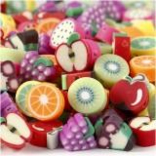 (CC69619) - Clay Beads - Fruit