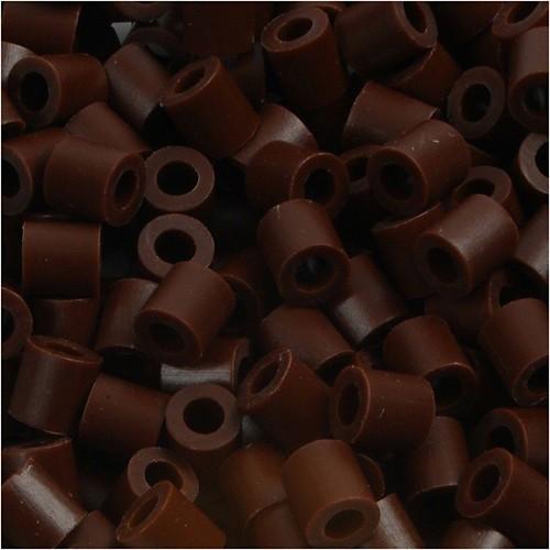 100 x Fuse Beads, Size 5x5mm, Hole Size 2.5mm, Brown (3) Medium, 1 (CC751030)