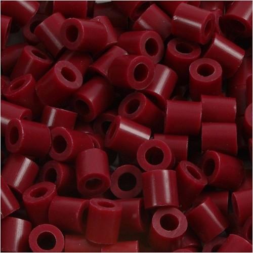 100 x Fuse Beads, Size 5x5mm, Hole Size 2.5mm, Claret (4) Medium, 1 (CC751040)